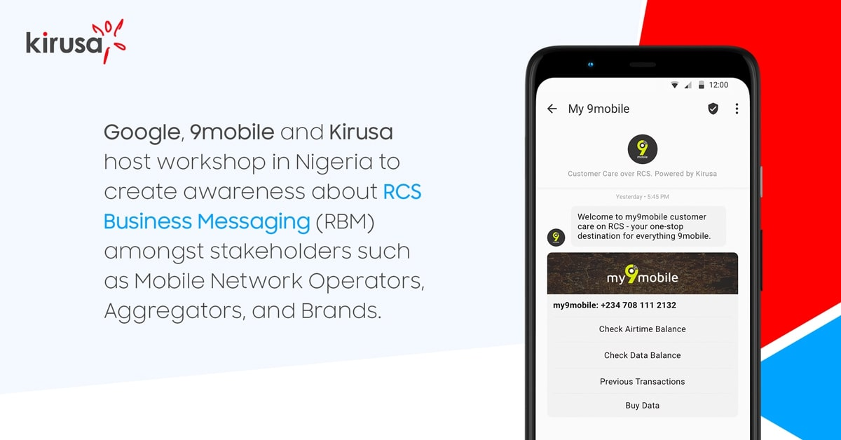 Google, 9mobile, and Kirusa Host Workshop in Nigeria to Promote RCS Business Messaging (RBM)